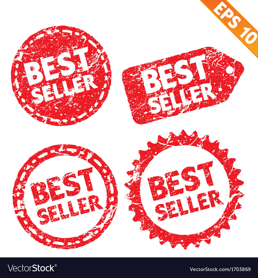 Stamp stitcker best seller product tag collection vector