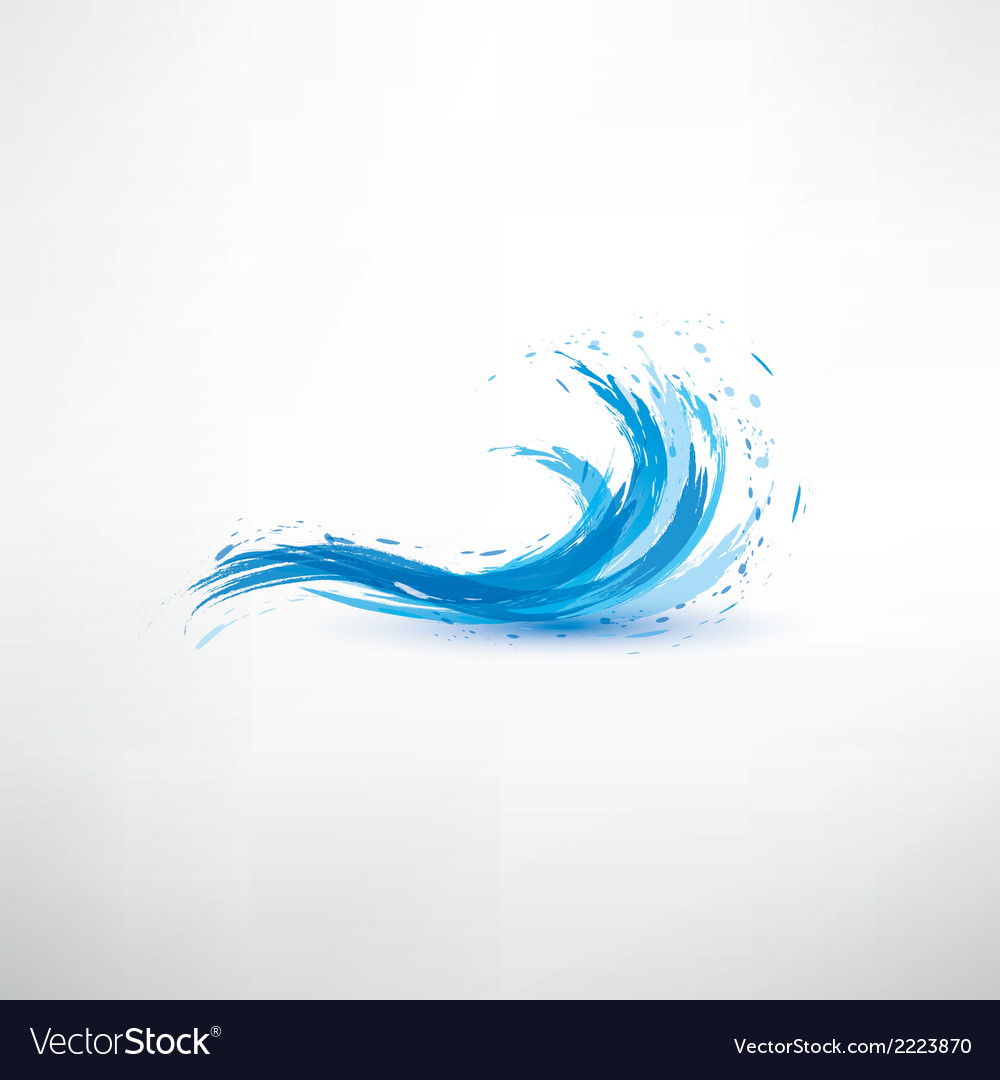 Blue water wave abstract symbol vector