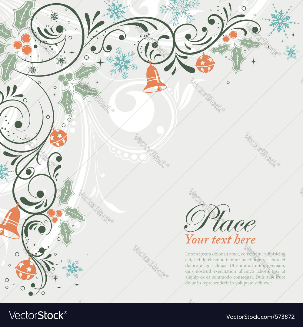 Christmas frame with snowflakes vector