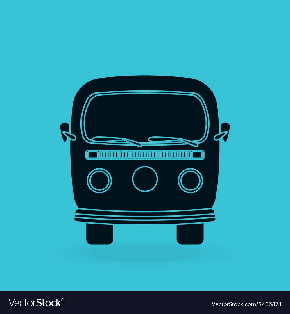Car retro design vector
