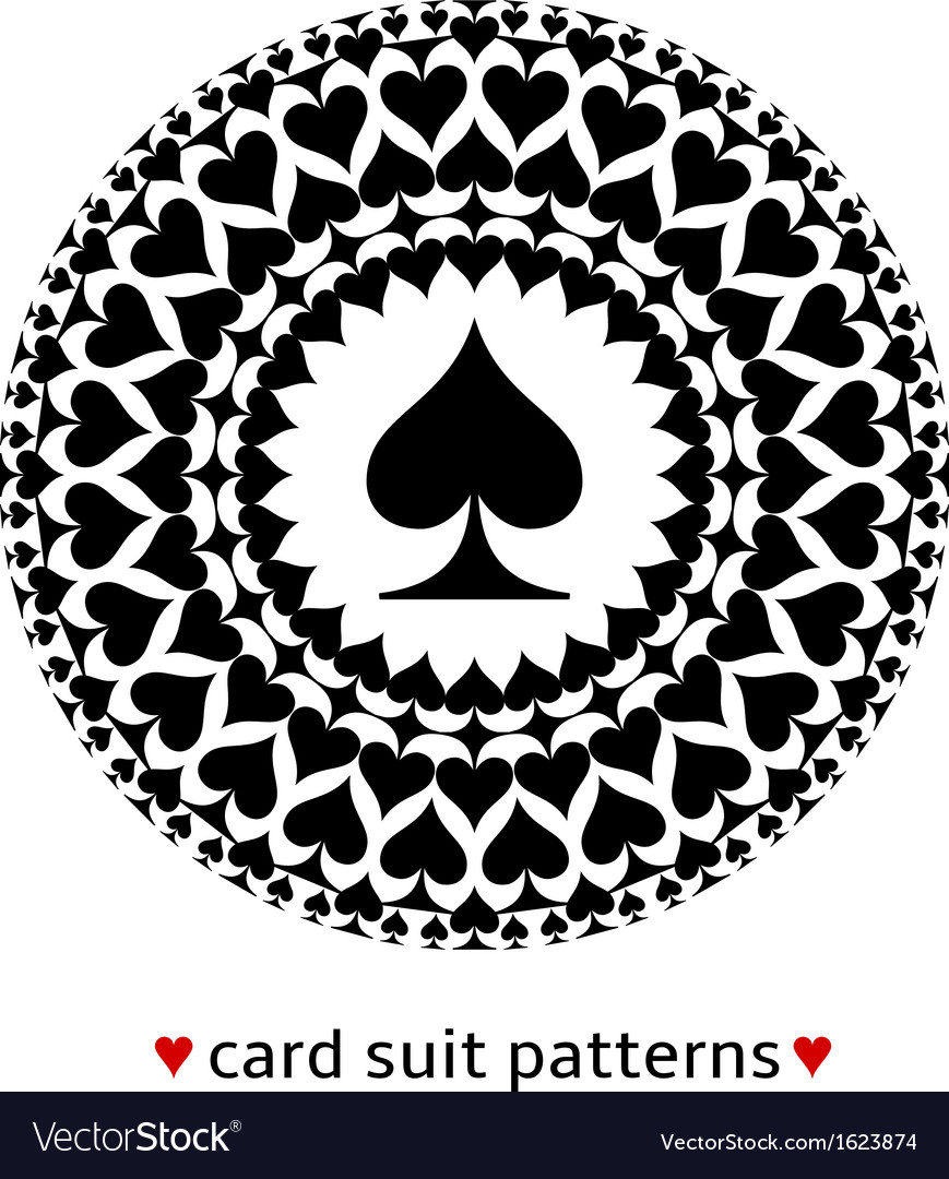 Spade card suit pattern vector
