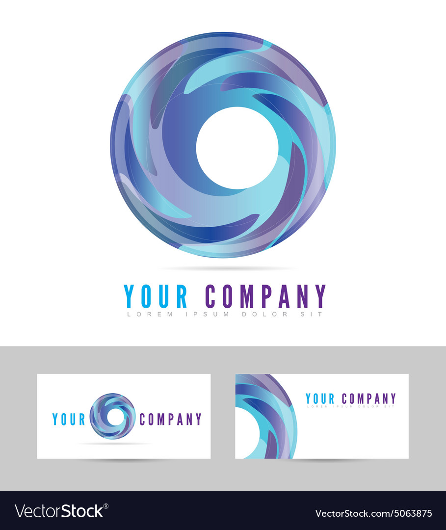 Blue business logo vector