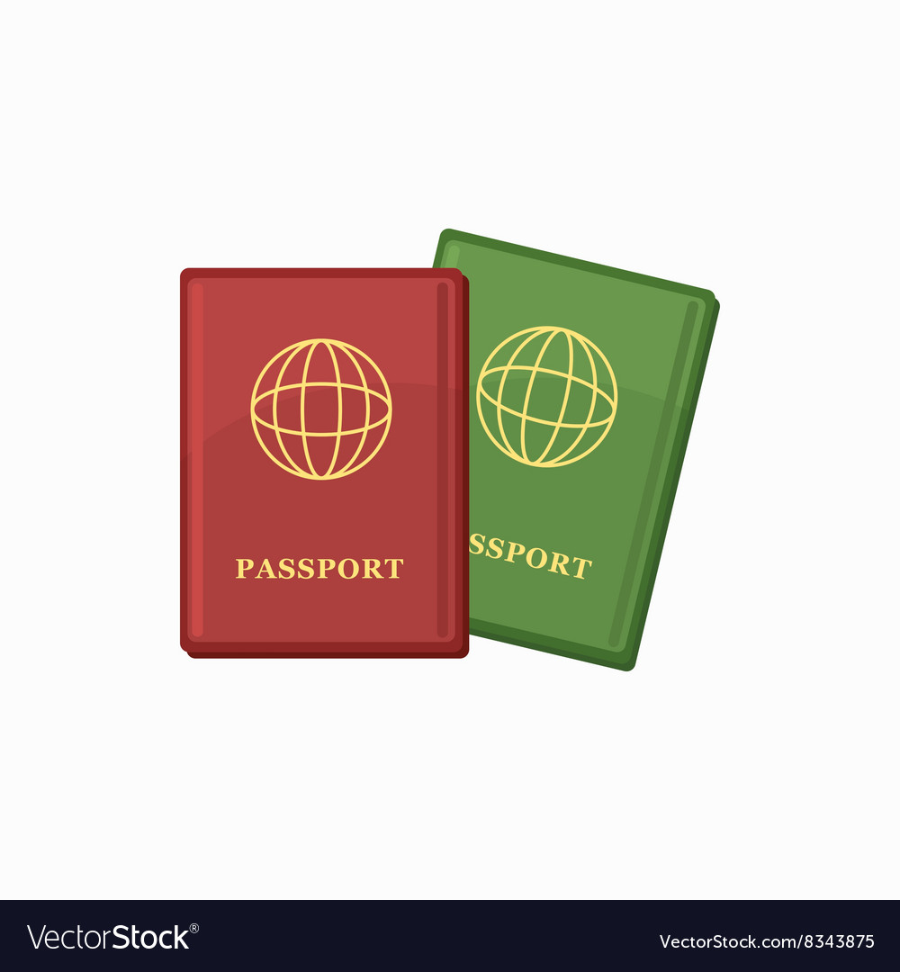 Passport icon cartoon style vector