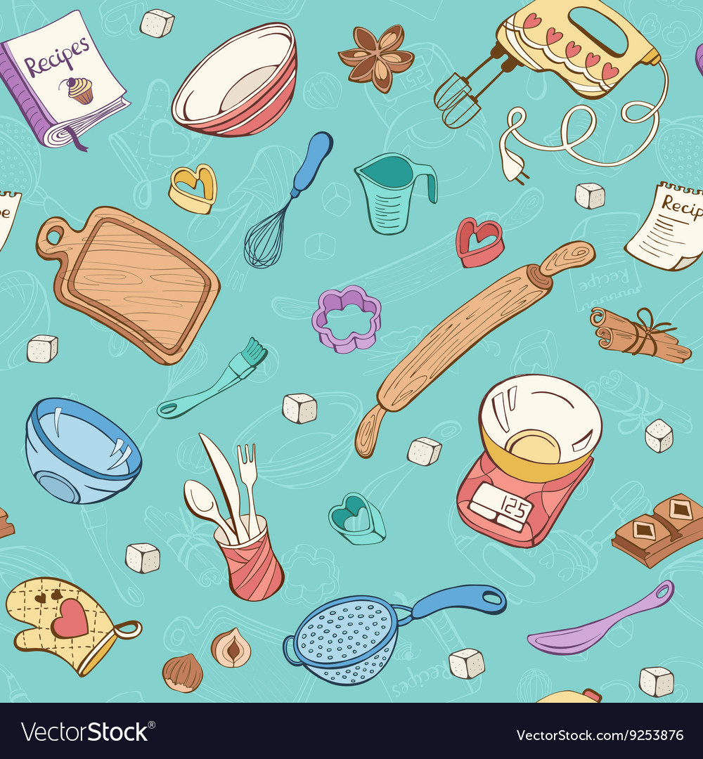 Baking toole background vector