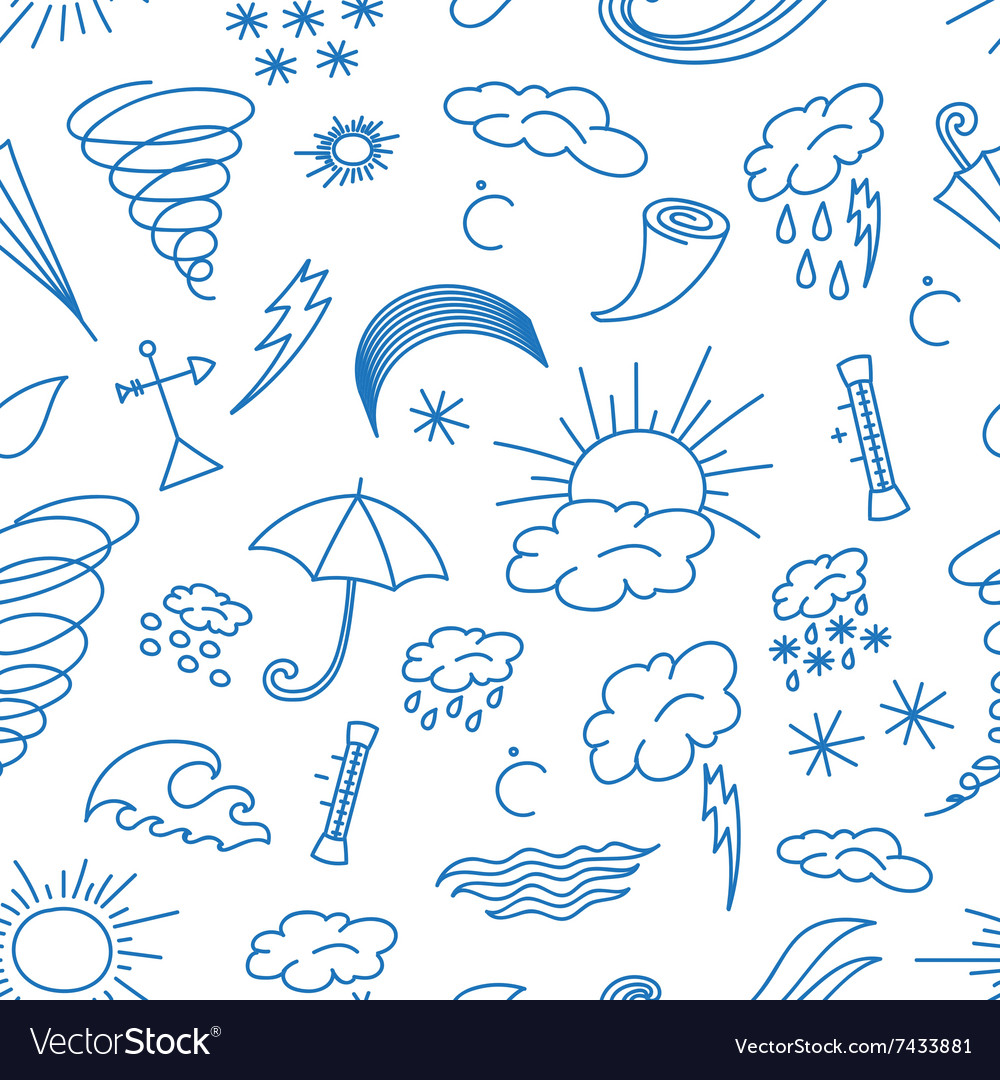 Doodle patern weather vector