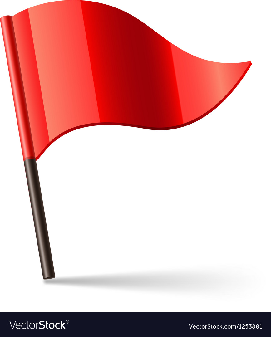 Red flag vector