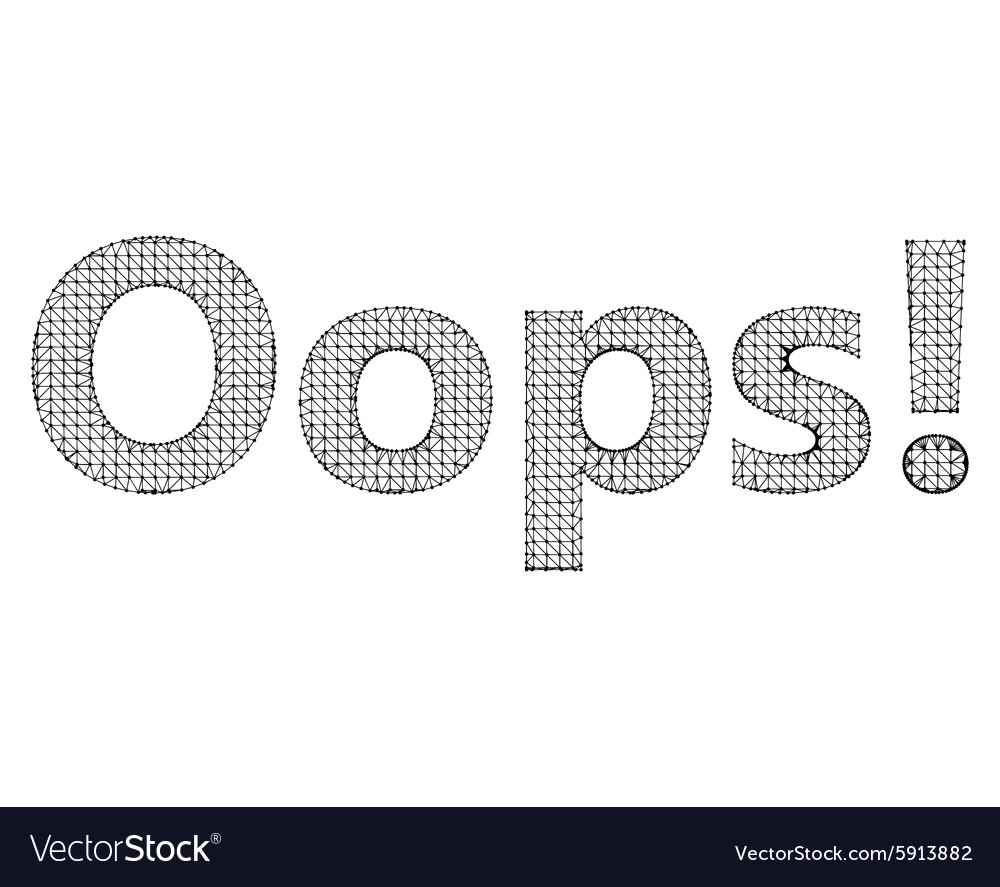 Inscription  oops vector