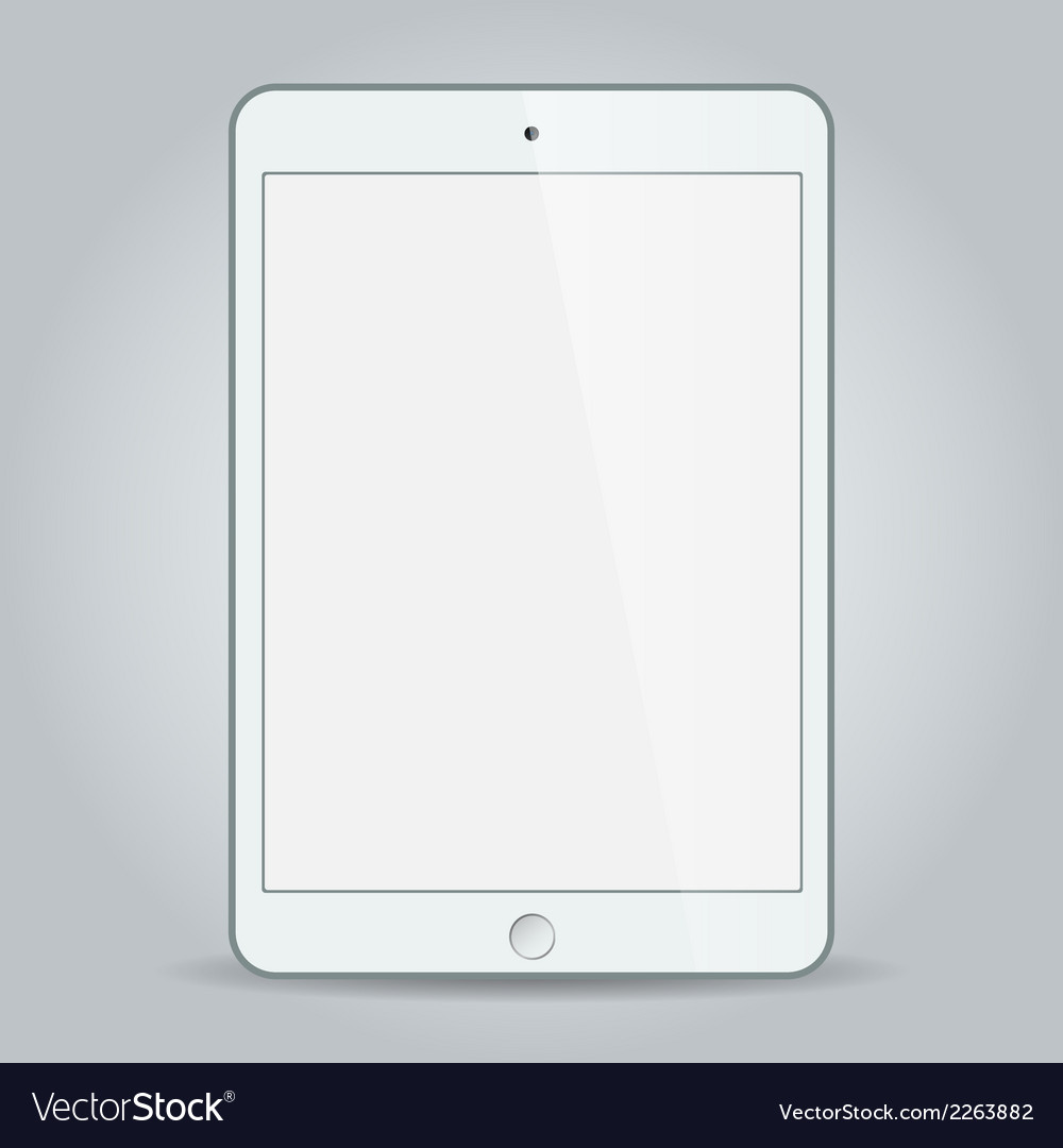 White business tablet in ipad mini or air style vector
