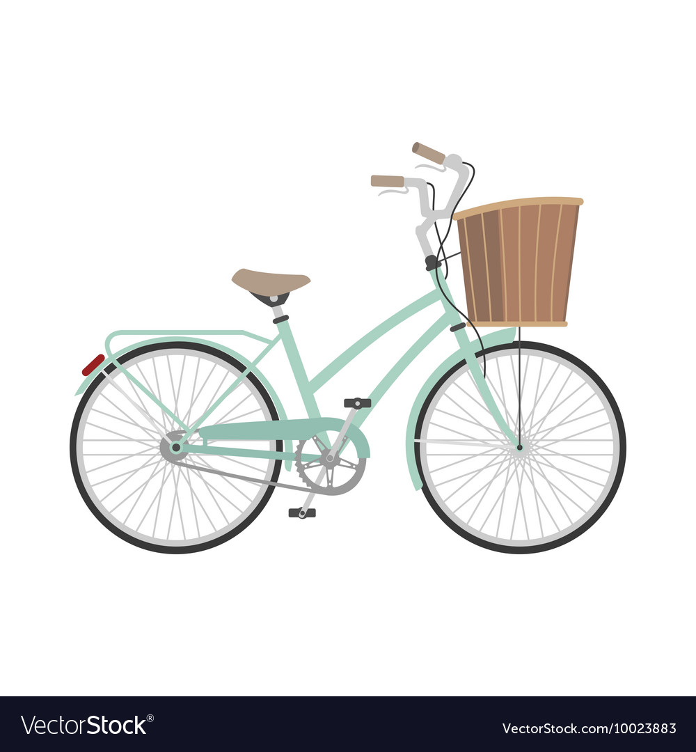 Bicycle in flat style vector
