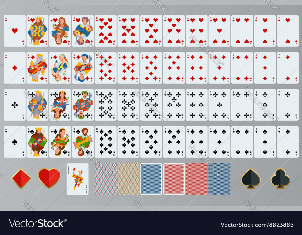 Playing cards set poker cards full set vector