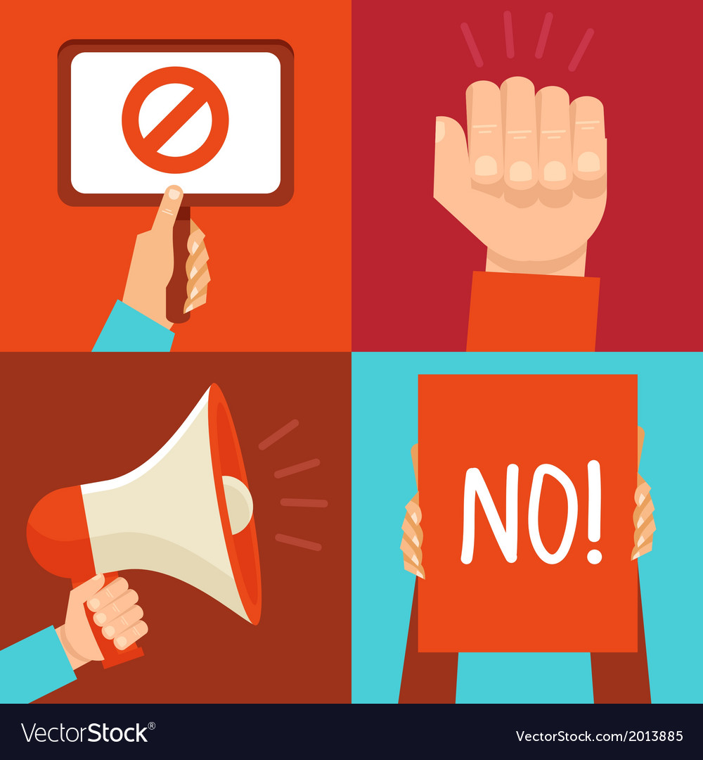 Protest signs vector