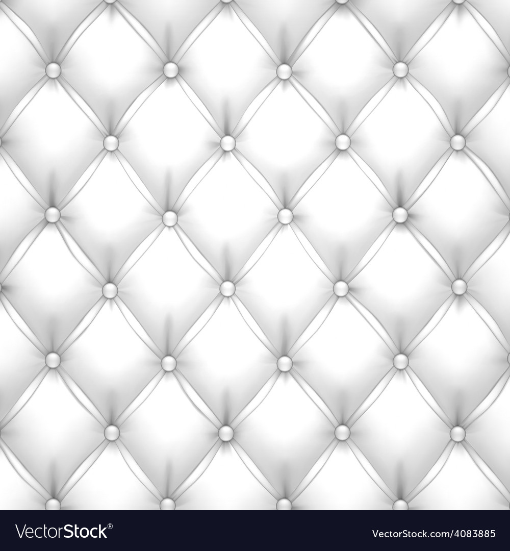 White upholstery leather pattern background vector