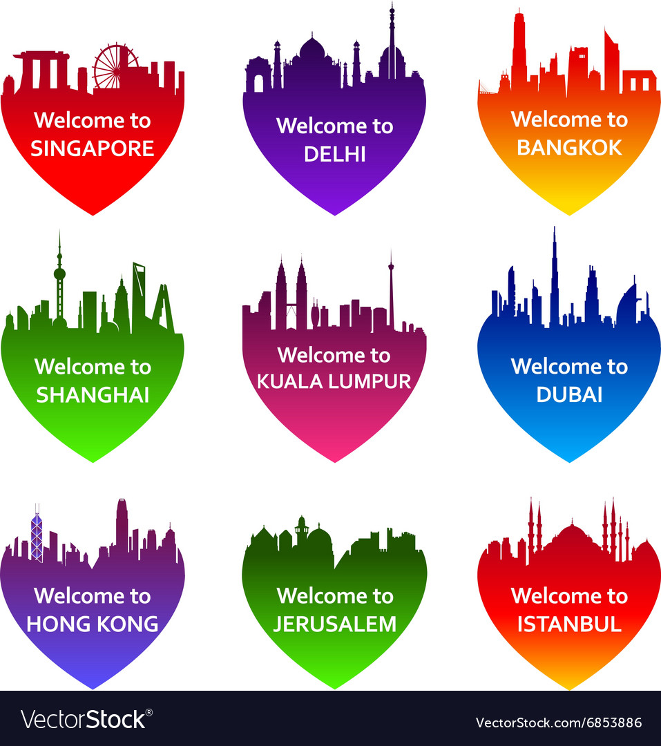 Welcomecity vector