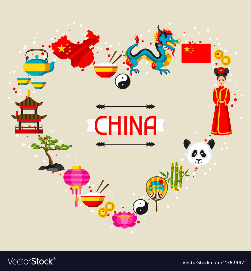 China background design chinese symbols and vector
