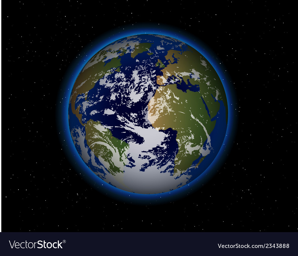 Beautiful planet earth vector