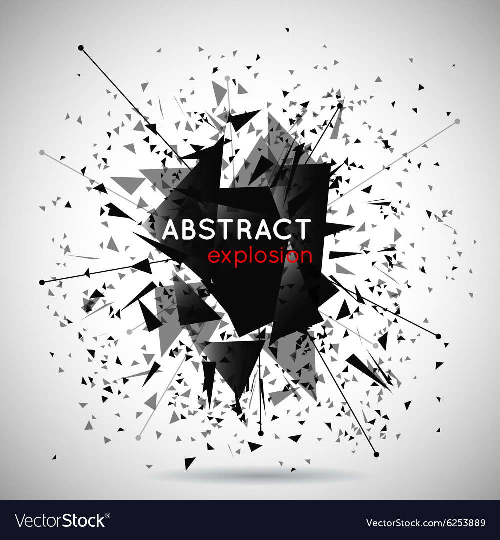 Abstract black explosion background vector