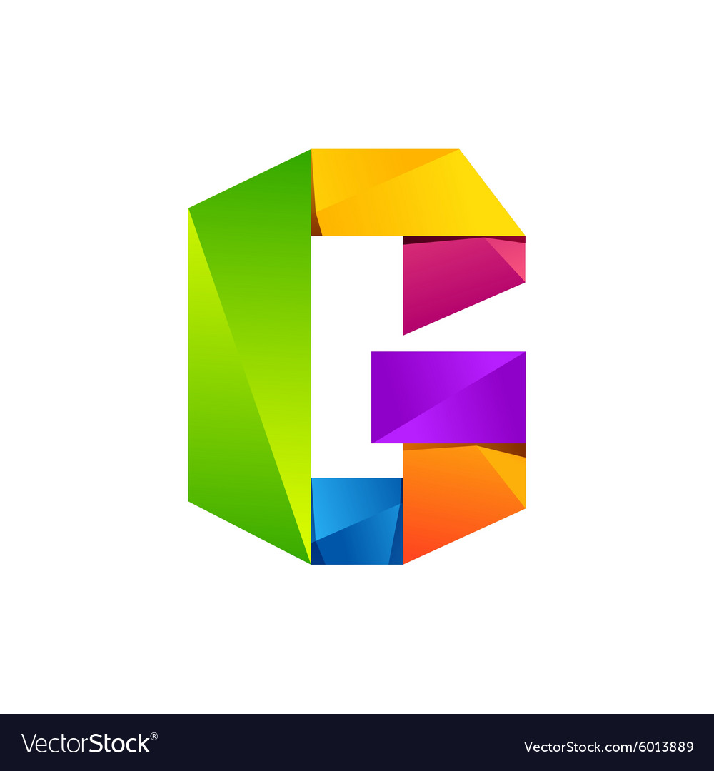 G letter one line colorful logo design template vector