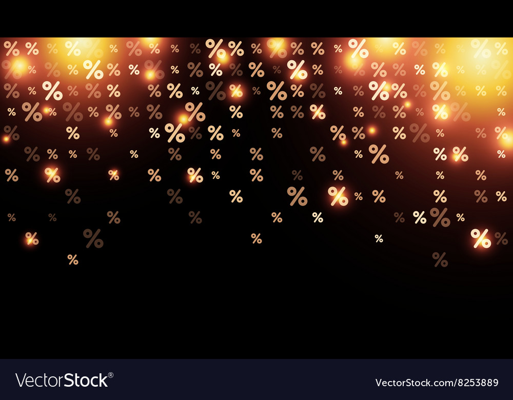 Sale background with percent vector