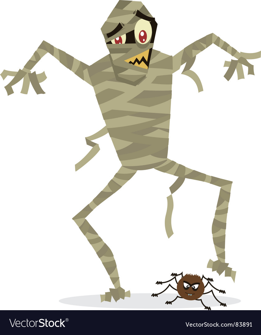 Mummy halloween vector