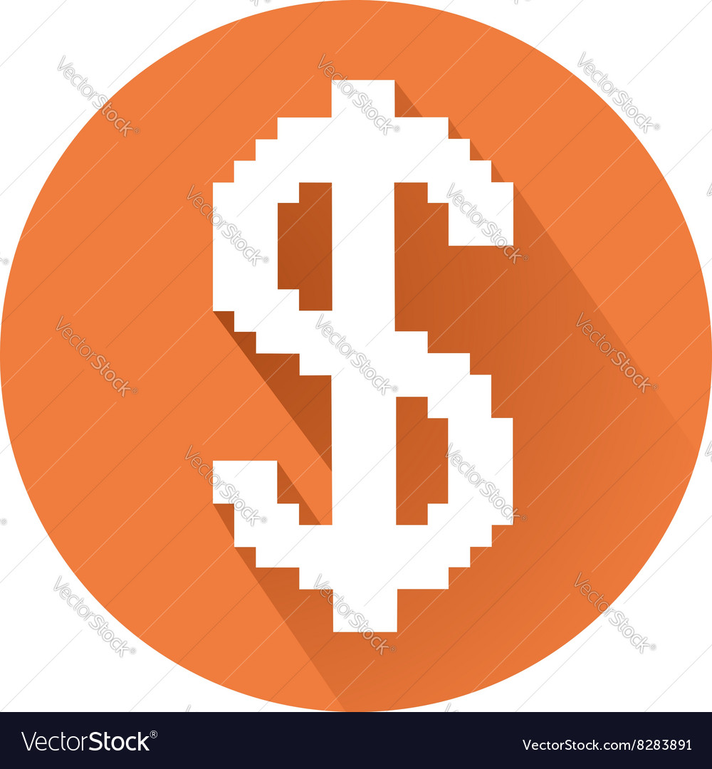 Pixelated dollar sign vector