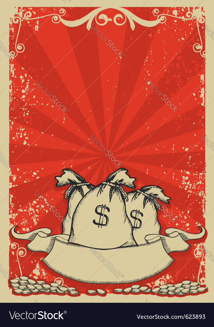 Money bags background vector