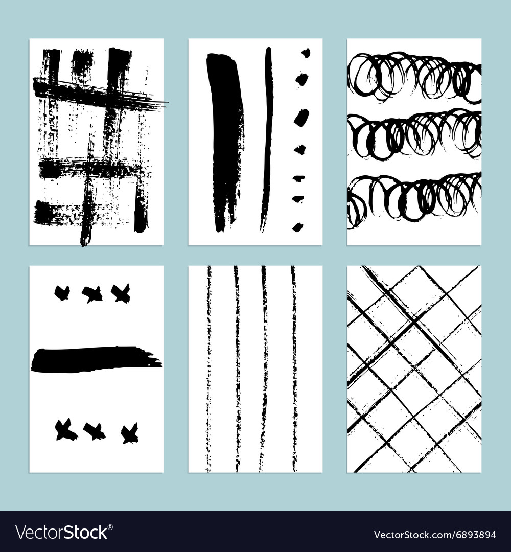 Sketch set of grunge tags vector