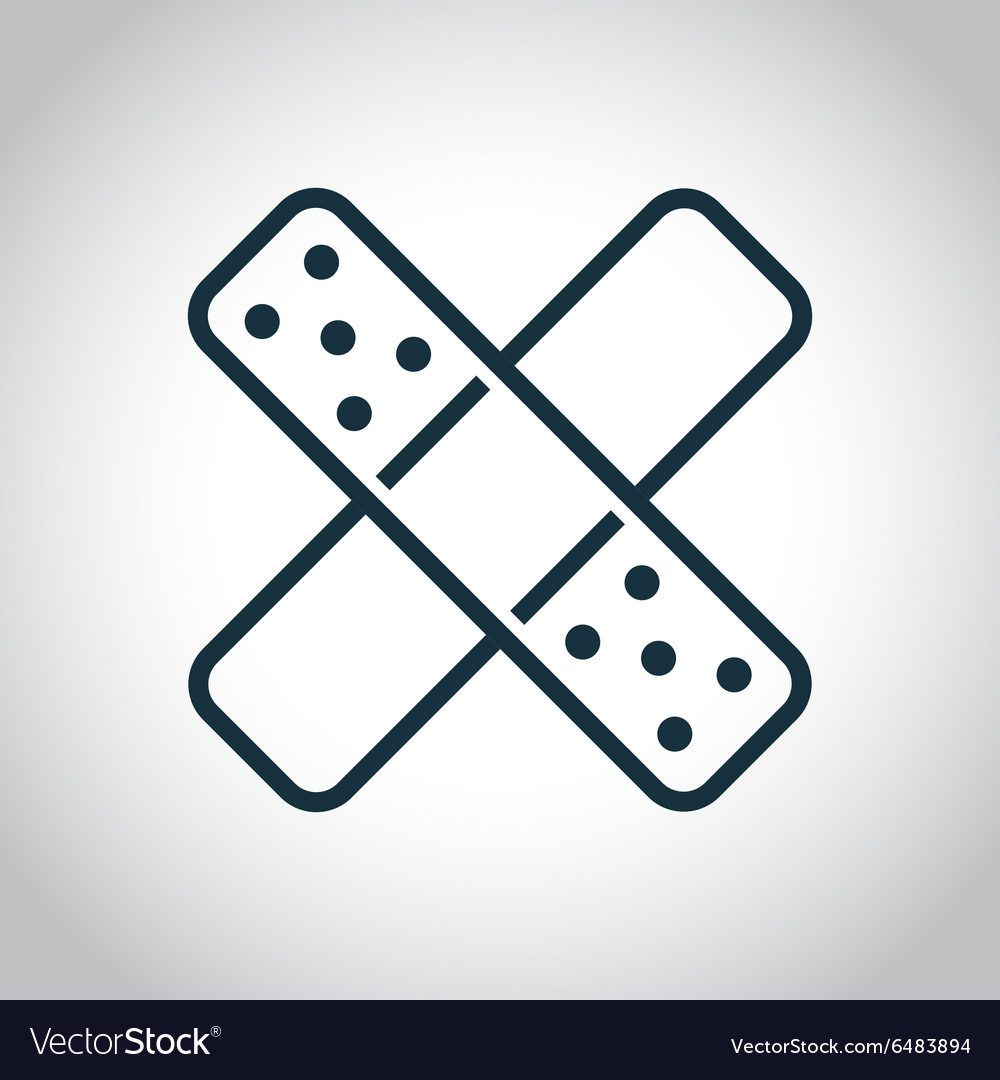 Two cross patches icon vector