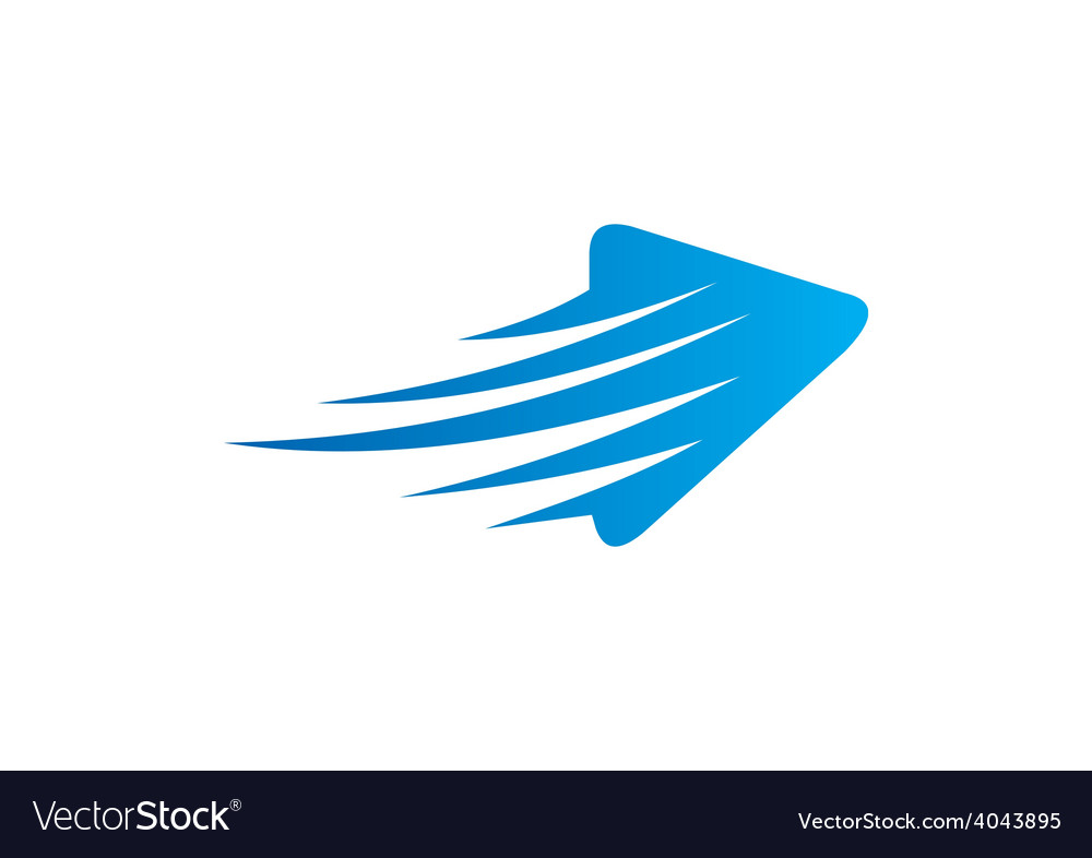 Arrow abstract speed logo vector