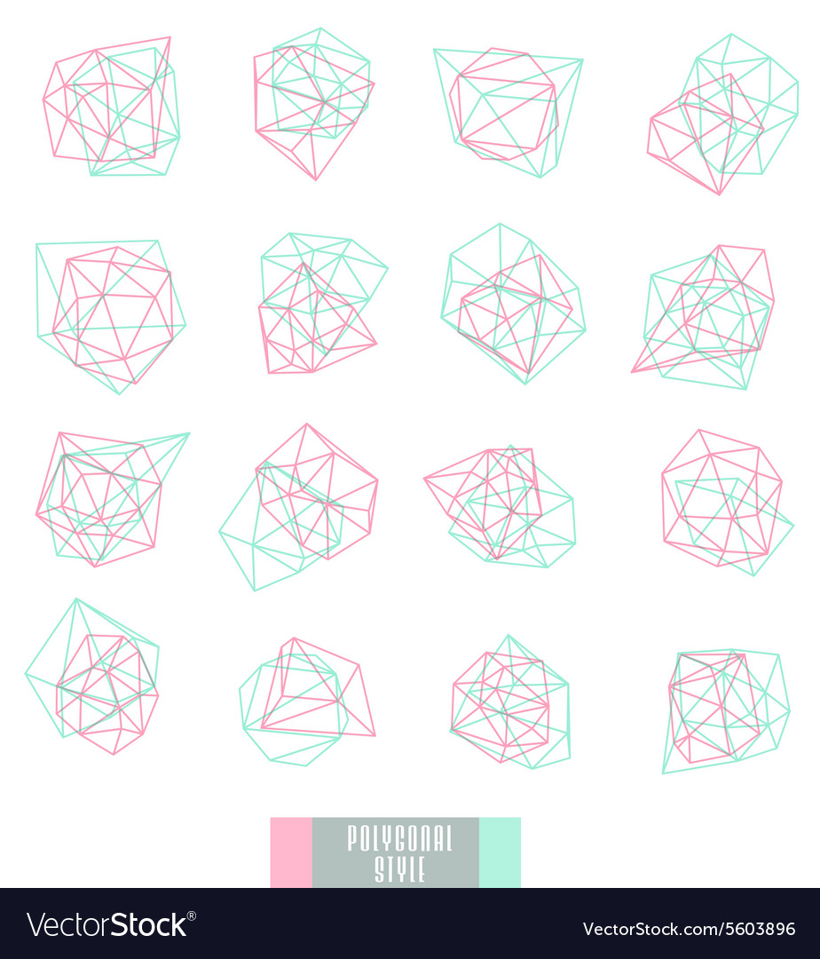Abstract triangles design vector