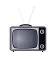 tv set retro old vintage device vector image vector image