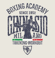 milan gymnasium boxing academy vector image vector image