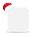 Santa Hat With Blank Gift Tag vector image vector image