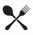 Fork And Spoon Isolated vector image