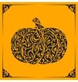 Ornamental decorative pumpkin silhouette vector image vector image