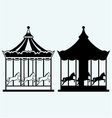 Vintage merry-go-round vector image vector image