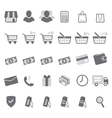gray shopping icon set vector image