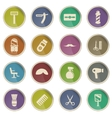Barbershop simply icons vector image