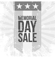 Memorial Day Sale Label vector image