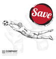 Poster design of soccer football vector image