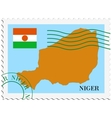 mail to-from Niger vector image