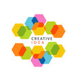 educational center or business hub creative idea vector image