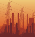 Electrical power lines vector image