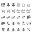 gray shopping icon set vector image