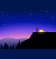 looking at the beautiful scenery vector image