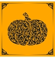 Ornamental decorative pumpkin silhouette vector image