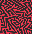 red tribal seamless pattern vector image