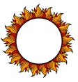 ring of fire circular frame isolated on white vector image