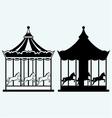 Vintage merry-go-round vector image