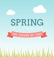 with template text hello spring Creative de vector image