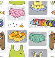 kidswear pattern background vector image vector image